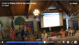 Wade Speaking to Rotary Club of San Luis Obispo California D5240
