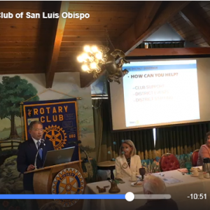 Wade Speaks to the Rotary Club of San Luis Obispo
